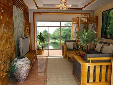 看典雅客廳裝修案例--大涌紅木家具網