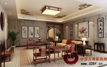 中式客厅装修效果图:优雅闲适客厅打造