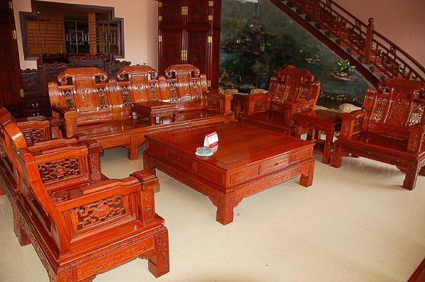 沙发8件套(年年红)--大涌红木家具网