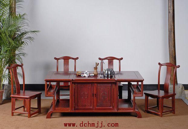 供应罗马茶台--大涌红木家具网