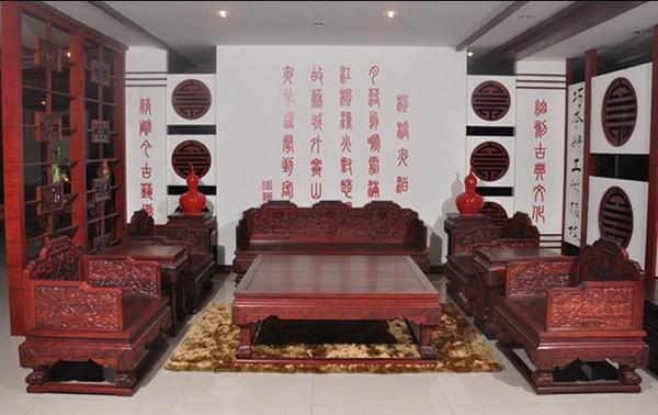 云龙宝座沙发(地天泰)--大涌红木家具网