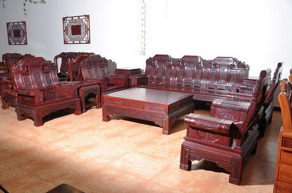 红檀沙发--大涌红木家具网