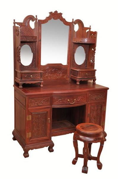 梳妆台(鸿运堂)--大涌红木家具网