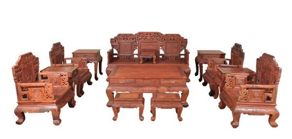 客厅沙发十二件套(鸿运堂)--大涌红木家具网