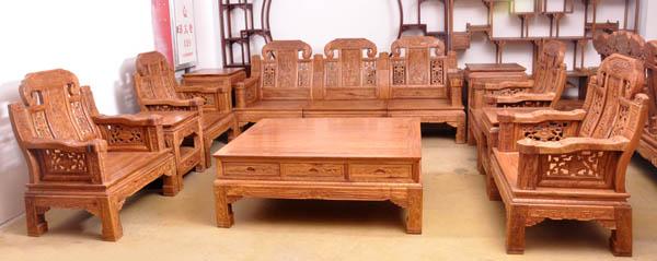 非黄大如意沙发--大涌红木家具网