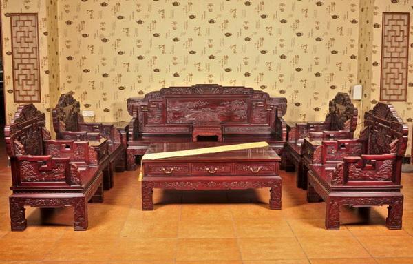 沙发11件套(今典居)--大涌红木家具网