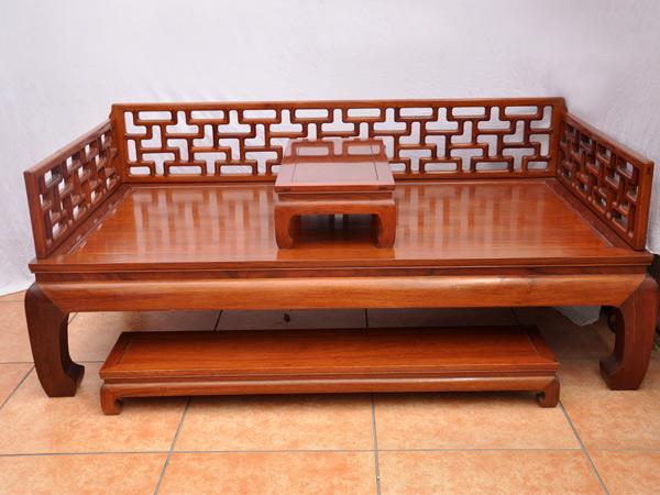 罗汉床(锦隆沙发)--大涌红木家具网