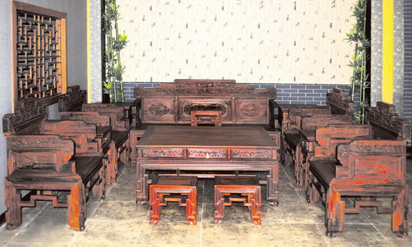 客厅沙发(久仰)--大涌红木家具网
