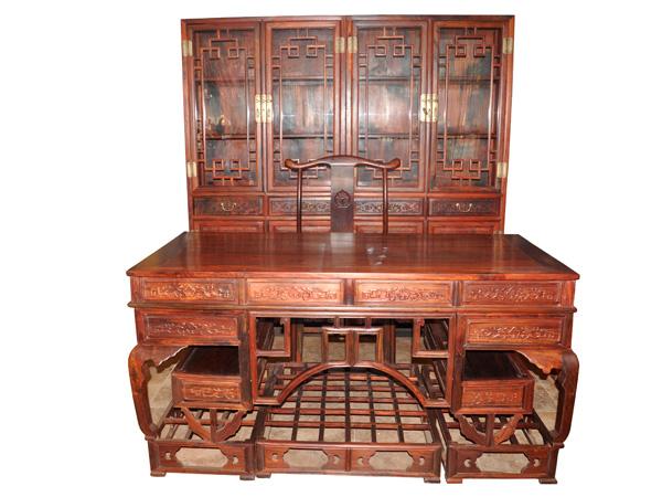 办公台,书柜(久仰)--大涌红木家具网