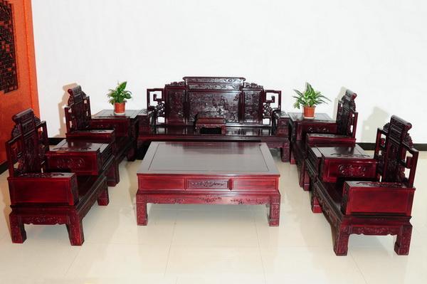 客厅沙发(年年顺)--大涌红木家具网