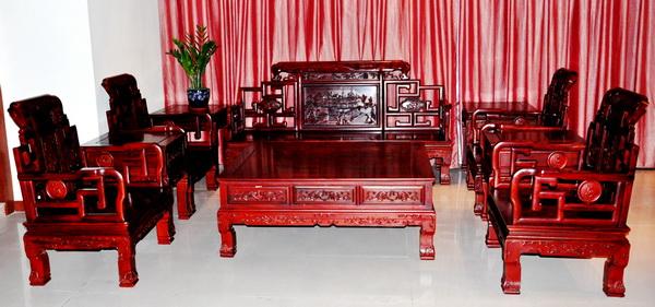 山水如意沙发(明泉坊)--大涌红木家具网