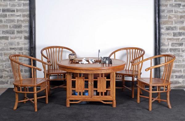 方形茶台(茗水轩)--大涌红木家具网