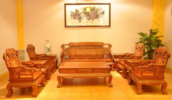 吉祥宝座沙发(雅仕轩)--大涌红木家具网