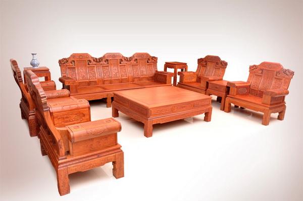 大奔沙发10件套(状元居)--大涌红木家具网